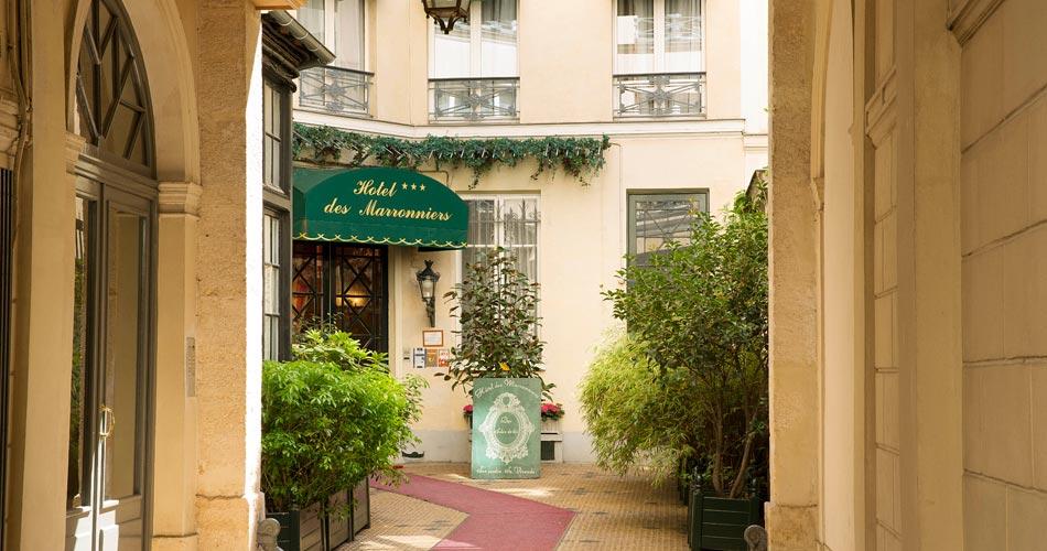 Hotel des Marronniers paris *** site officiel - 3 star hotel