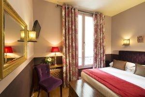 Chambre Quad Hotel des Marronniers Paris